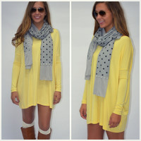 Ellington Yellow Piko Dress