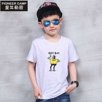 Pioneer Camp Kids Children's T shirt Boys T-shirt Baby Clothing Little Boy Summer Shirt Tees Designer Cotton Cartoon Clothes