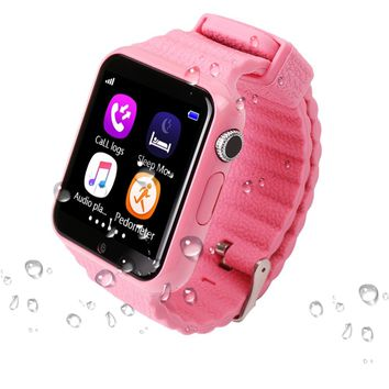 Smartch V7K Kids GPS Smart Watch Waterproof Smart with Camera, SOS Call, Location, Device Tracker, Anti-Lost Monitor