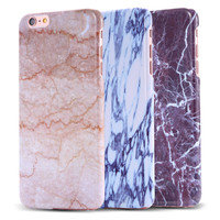 Stone Granite Marble Texture Pattern PC Case for iPhone 6s 6 4.7 /plus 5.5 Thin Back Cover Protective Accessories for iphon 6 s