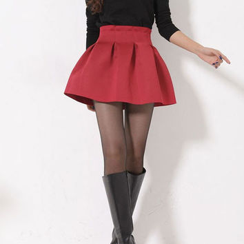 High Waisted Pleated Skater Skirt from Jex Boutique | Epic