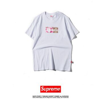 Cheap Women's and men's supreme t shirt for sale 85902898_0018