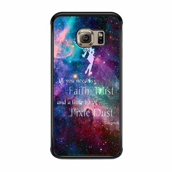 tinkerbell flying galaxy quote samsung galaxy s6 s6 edge s3 s4 s5 cases