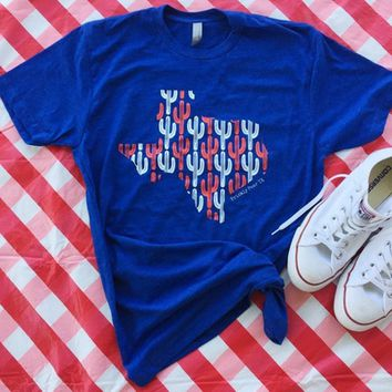 Patriotic TX Cacti tee from PeaceLove&Jewels