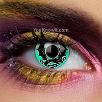 Green Contact Lenses | Alchemy Emerald Dragon Contact Lenses (Pair)