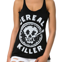 Cereal Killer Women's Triblend Racerback Tanktop