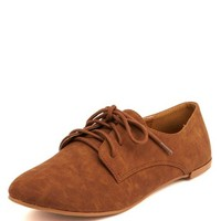Nubuck Lace-Up Oxford: Charlotte Russe