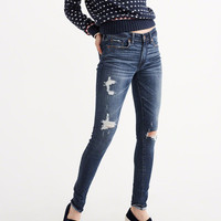 Womens Ripped Super Skinny Jeans | Womens Bottoms | Abercrombie.com