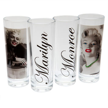 Marilyn Monroe - Red Lips Portraits Shooters 4 Pack Set