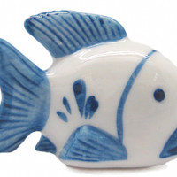 Delft Blue Ceramic Animal Miniature Fish