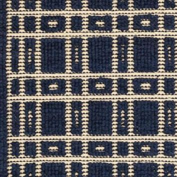 Oliver Navy Wool Woven Rug