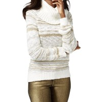 INC Womens Knit Metallic Pullover Sweater