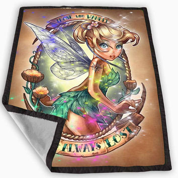 Disney Princess Tinker Bell tattooed Blanket for Kids Blanket, Fleece Blanket Cute and Awesome Blanket for your bedding, Blanket fleece **