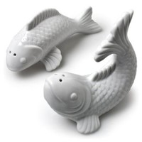 Abbott Collection Set of Jumping Fish Salt & Pepper Shaker