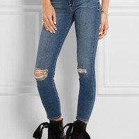 Frame - Le High Skinny distressed jeans