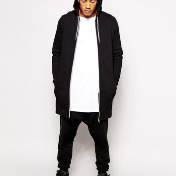 ASOS Super Longline Zip Up Hoodie at asos.com