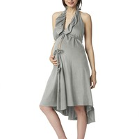 The feminine hospital gown   Ruffle Labor Gown by Pretty Pushers