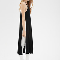 Longline High-Slit Racerback Top