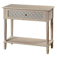 Style Craft Distressed Console Table (White)