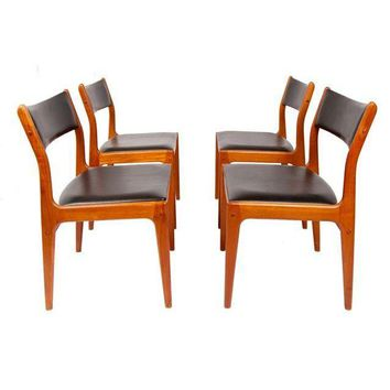 Pre-owned Danish Modern Teak Dining Chairs - Set of 4