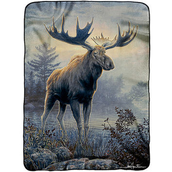 "Walmart: Hautman Brothers 60"" x 80"" Royal Plush Raschel Throw"