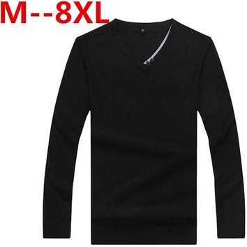10XL 8XL 6XL 5XL 4X 2017 New Autumn Winter Men Sweaters Pullovers Knitted Thick Warm Design Slim Fit Casual Knitted Sweater Male