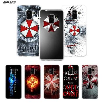 BiNFUL Resident Evil Umbrella Corporation Hard Clear Case Cover Shell for Samsung Galaxy A3 A5 A7 2016 2017 A8 2018
