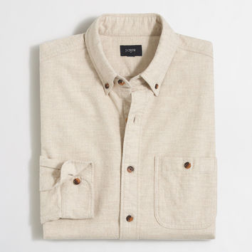 Factory heathered cotton elbow-patch shirt