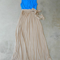 Indigo Beach House Maxi Dress [5838] - $45.00 : Vintage Inspired Clothing & Affordable Dresses, deloom | Modern. Vintage. Crafted.