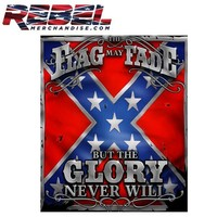 "'The Flag May Fade' Rebel Blanket 50"" x 60"""