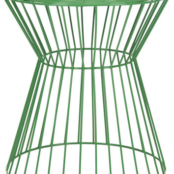 Adele Iron Wire Stool in Green design by Safavieh
