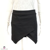LNA Black Knit Criss Cross Skirt