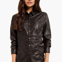 Blank Vegan Button Up Jacket $79