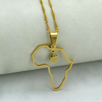 Heart of Africa Pendant Necklace