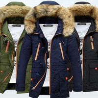 Men'S Thickening Casual Warm Raccoon Nagymaros Collar Duck Down Jacket Winter Hooded Down Coat Parkas [9305639623]