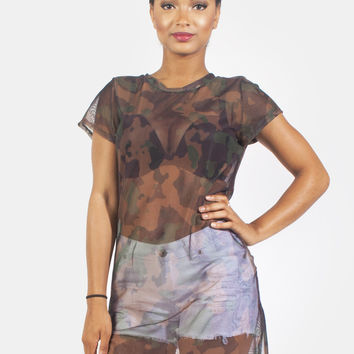 Camo Cover Up Top