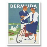 Vintage Bermuda Travel Poster Art Postcards