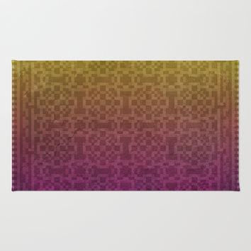 Pixel Patterns Yellow/Magenta Rug by Likelikes