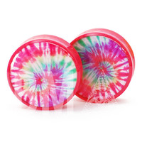 0g (8mm) Tie Dye BMA Plugs Single Flare Pair