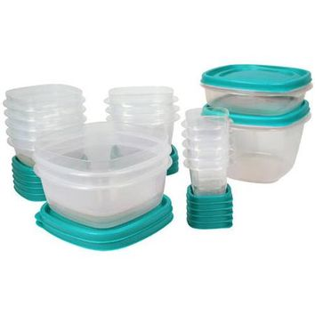 Rubbermaid Food Storage Easy Find Lids, 30-Piece Set Plus 4, Multiple Colors - Walmart.com