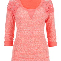 Crochet Shoulder Pullover Top