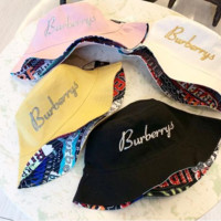 Burberry 2019 new letter embroidery visor fisherman hat