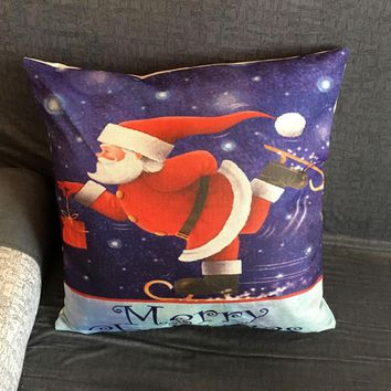 Christmas Pillow Case Sofa Waist Throw Cushion Cover Home Decor
