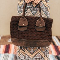 Love Found Knit Purse in Brown