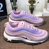NIKE AIR MAX 97 Fashion Women Casual Running Sneakers Sport Shoes Light Purple/White I-CQ-YDX
