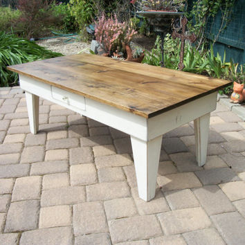 Country Pine Coffee Table with Drawer