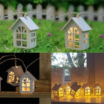 Little White Fairy House Garden Lights for Home Decoration