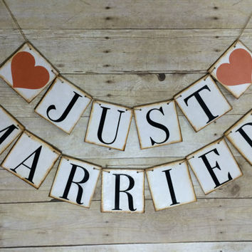 JUST MARRIED Banner / Just Married Sign / Photo Props / Wedding Banner/ Wedding Decoration / Just Married