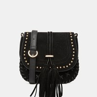 Faith Whipstitch Tassle Saddle Bag at asos.com