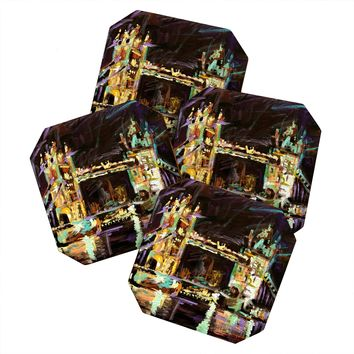 Ginette Fine Art Tower Bridge London Coaster Set